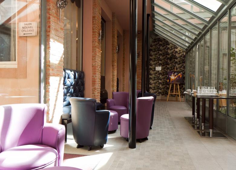 La veranda  Grand Hotel Orleans TOULOUSE