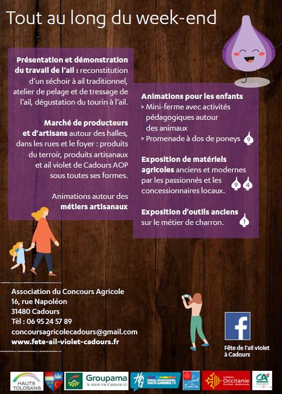 FÊTE DE L'AIL VIOLET, CADOURS
